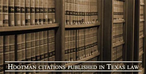 Texas Appeals Citations - Tim Hootman