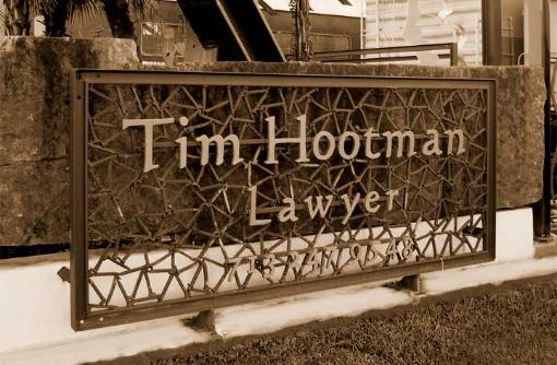 Tim Hootman Law Firm Sign